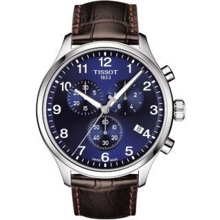 【TISSOT 天梭】TISSOT 天梭韻馳系列 Chrono XL計時手錶(T1166171604700)