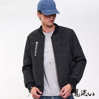 【BLUE WAY】藝術字母鋪棉棒球外套- 鬼洗