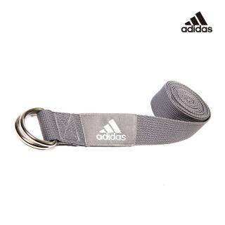 【adidas 愛迪達】Yoga 編織棉質瑜珈伸展帶(灰)