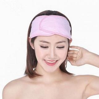【89 zone】法式古典毛巾系列卸妝髮帶  2 入(紫/粉紅/藍)