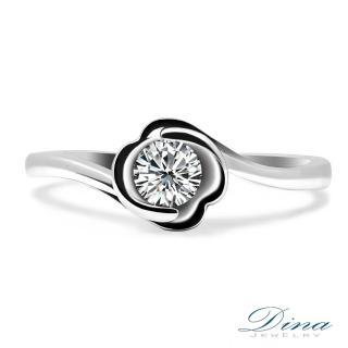 【DINA 蒂娜珠寶】花團 GIA 0.34克拉 F/VS2   鑽石求婚女戒