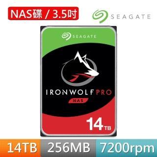 【SEAGATE 希捷】那嘶狼IronWolf Pro 14TB 3.5吋 NAS專用硬碟(ST14000NE0008)