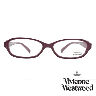 【Vivienne Westwood】光學鏡框經典鑽飾英倫風-暗桃紅-VW240 01(暗桃紅-VW240 01)