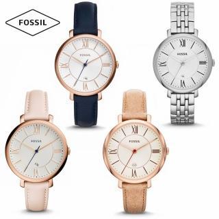【FOSSIL】精選美式時尚風格/羅馬時標超薄百搭款腕錶/36mm(ES3988/ES3843/ES3487/ES3433)