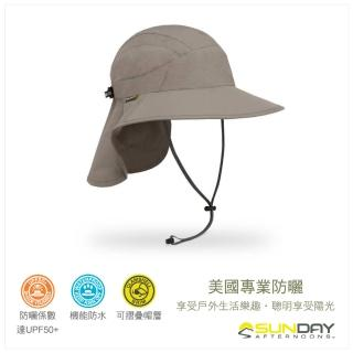 【美國Sunday Afternoons】抗UV防水透氣護頸帽 灰褐 Ultra Adventure Storm Hat(SAS3A01558B-264)