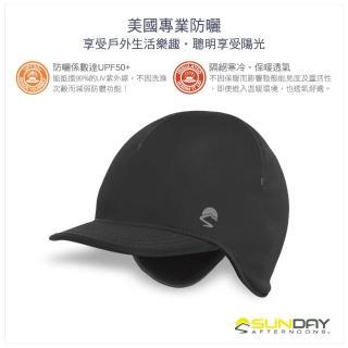 【美國Sunday Afternoons】抗UV防潑反光刷毛飛行帽 黑 Elements(SAS3A89426B-302-07)