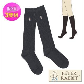 【PETER RABBIT 比得兔】尼克斯膨鬆紗半統襪3件組(高質感精品)