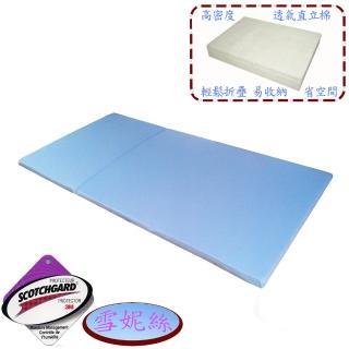 【雪妮絲】吸濕排汗日式高密度透氣折疊床墊-單人(加碼送室內拖 x 1 )