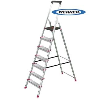 【WERNER】美國Werner穩耐安全鋁梯-L237R-2 鋁合金大平台7階家用梯/A字梯