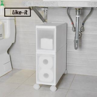 【日本like-it】UNI-COM自由疊砌抽屜附輪收納櫃-2入組-1高1低-寬17cm