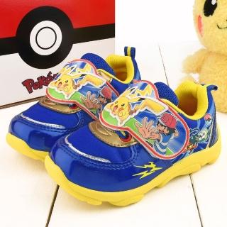 【童鞋城堡】神奇寶貝-寶可夢 中大童 寶可夢轉印運動鞋(PA5269-藍)