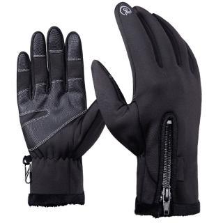 【活力揚邑】雙層防水可觸控機車保暖防風登山滑雪防滑手套