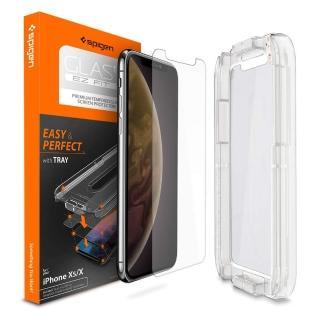 【Spigen】iPhone XS Glas.tR EZ Fit 防爆玻璃保護貼-含快貼板