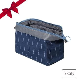 【E.City】促銷2入-大容量日系質感立體款鋼架化妝包收納包