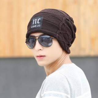 【Acorn*橡果】韓系保暖針織帽套頭包頭帽情侶帽1903(咖啡)