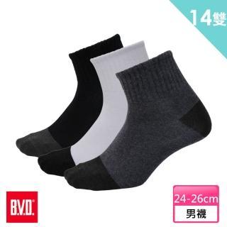【BVD】雙效抗菌除臭1/2健康男襪12雙組+送男女適用除臭襪*2雙(B385襪子)
