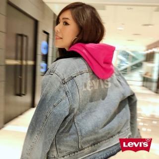 【LEVIS】女款 牛仔外套 / 背後LOGO / 毛領 / 短版(亞洲限定)