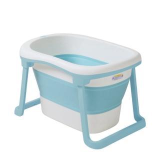 【babyhood】蒂尼折疊浴桶(贈專用排水管 浴凳)