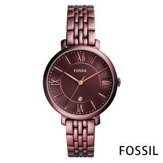 【FOSSIL】酒色迷情不鏽鋼女錶-酒紅色x36mm(ES4100)