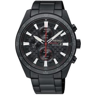 【SEIKO 精工】Criteria 編織紋男士計時腕錶(V176-0AW0SD/ SSC657P1)
