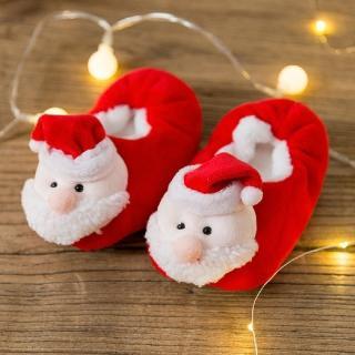 【媽咪可兒】聖誕限定-3D立體動物造型保暖室內鞋/保暖鞋襪/襪套/地板襪(聖誕老公公)