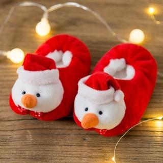【媽咪可兒】聖誕限定-3D立體動物造型保暖室內鞋/保暖鞋襪/襪套/地板襪(雪人)