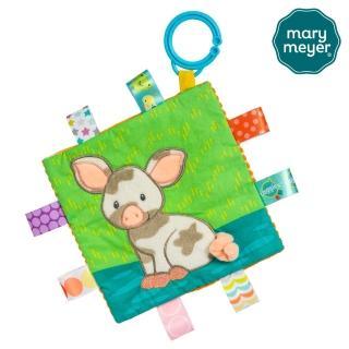 【Mary Meyer】標籤動物安撫沙沙紙-泥泥豬(豬年必備 沙沙紙 響紙 彌月禮 新生兒玩伴)