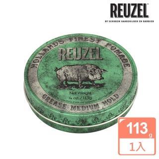 【REUZEL】Green Pomade Grease 綠豬中強髮油(113g)