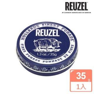 【REUZEL】Fiber Pomade 深藍豬強力纖維級水性髮泥(35g)
