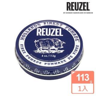 【REUZEL】Fiber Pomade 深藍豬強力纖維級水性髮泥(113g)