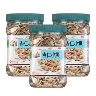 【萬歲牌】杏仁小魚(270公克-方型罐)*3入
