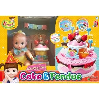 【KONGSUNI】小荳娃娃 生日蛋糕妹妹娃娃組(女孩 家家酒)