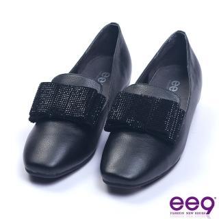 【ee9】都會優雅鑲嵌亮鑽蝴蝶結內增高休閒便鞋 黑色(休閒便鞋)
