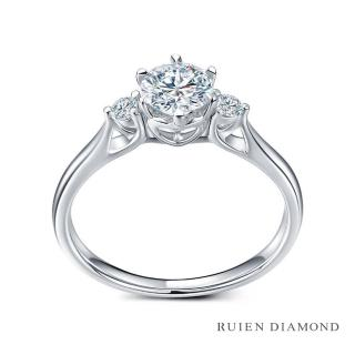 【RUIEN DIAMOND 瑞恩鑽石】GIA30分 D VVS2 3EX(18K白金 三世之約 鑽石婚戒)