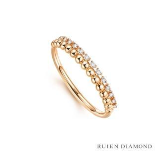 【RUIEN DIAMOND 瑞恩鑽石】真鑽7分 鑽石戒指 女款 線戒(18k玫瑰金 輝映)