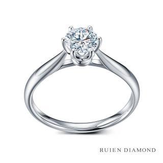 【RUIEN DIAMOND 瑞恩鑽石】GIA50分 D VS1 3EX(18K白金 花簇 鑽石婚戒)