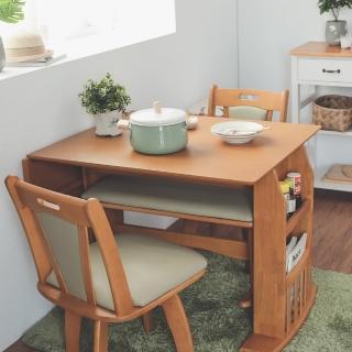 【完美主義】日系可伸縮雙人收納餐桌/折疊桌/延伸桌(二色可選)