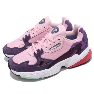 【adidas 愛迪達】休閒鞋 Falcon 經典 運動 女鞋 愛迪達 球鞋 穿搭 舒適 潮流 老爹鞋 粉 紫(BD7825)
