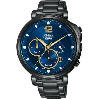 【ALBA】雅柏 Tokyo Design 年度限量計時手錶-藍x鍍黑(VD53-X321SD  AT3E21X1)