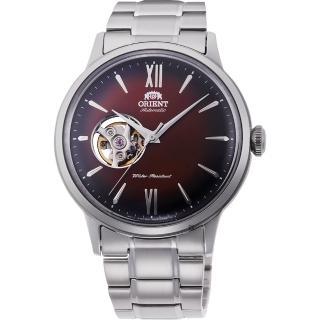 【ORIENT 東方錶】開芯小鏤空機械錶-紅x銀/40.5mm(RA-AG0027Y)