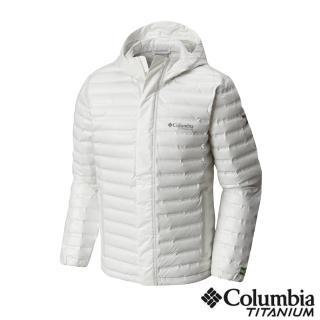 【Columbia 哥倫比亞】男款-鈦Outdry ECO 防水羽絨外套-白色(UWE00520WT / 羽絨.防水.風衣)