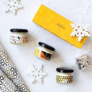【Baija Paris 巴黎百嘉】迷你香氛蠟燭禮盒組(焦糖蜂蜜、艷日橙花、佛手柑夜來香)