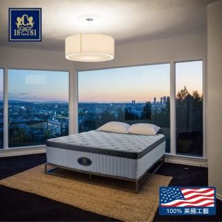 【NINO1881】CHIC美規三線氣墊記憶棉獨立筒床墊-雙人(喀什米爾羊毛表布+氣墊記憶棉+超厚32CM+10年保固)