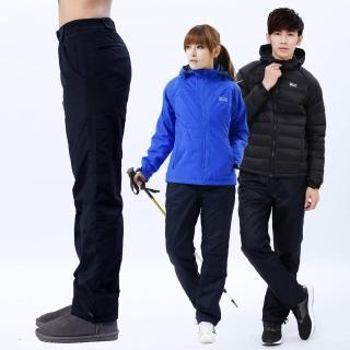 【遊遍天下】中性款極暖防潑水防風刷毛褲雪褲GP20009丈青(S-5L)