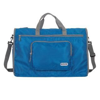 【OUTDOOR】旅遊配件-摺疊旅行袋-大-藍(ODS17B09BL)