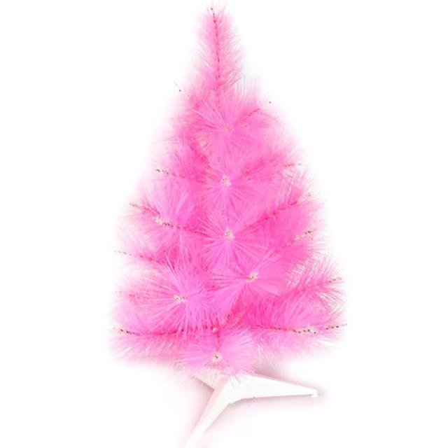 【摩達客】台灣製3尺/3呎90cm特級粉紅色松針葉聖誕樹裸樹(不含飾品/不含燈)/