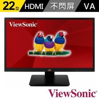 【ViewSonic 優派】VA2205-MH 22型VA 1080p 家用、商用螢幕