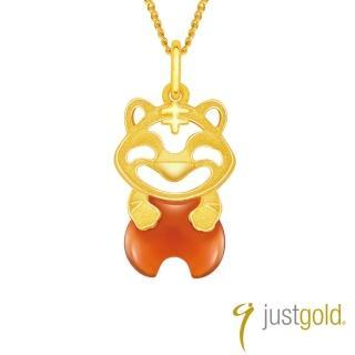【Just Gold 鎮金店】吉祥寶寶十二生肖純金系列 黃金墜子-虎