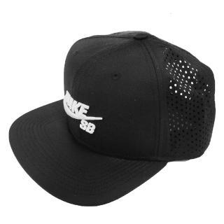 【NIKE 耐吉】帽子 SB Performance Trucker 立體刺繡 卡車帽 網帽 滑板經典 穿搭 黑白(629243-010)