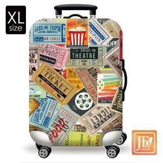 【LittleChili】繽紛行李箱套(美式搖滾XL)